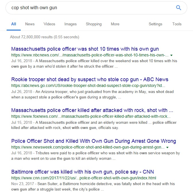 Cops Shot With Own gun